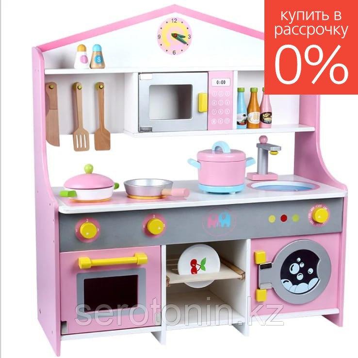 Детская интерактивная игровая кухня (дерево) 69х23,5х65 см