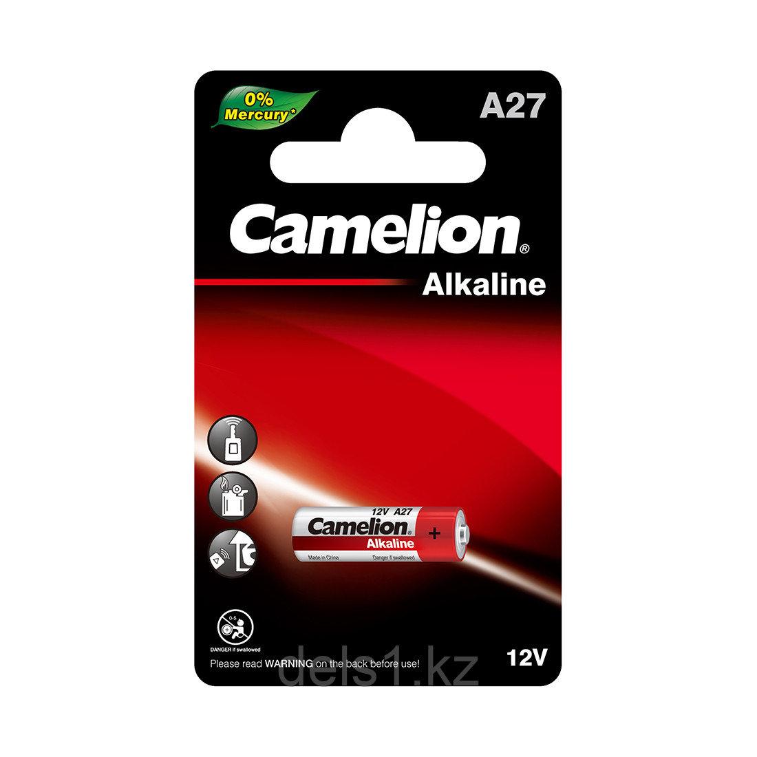 Батарейка, CAMELION, A27-BP1, 12V, 16 mAh, 1 шт.