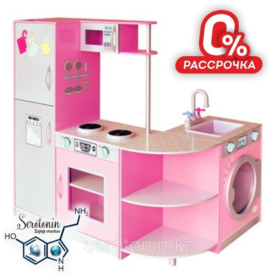Деревянная детская кухня :44х 5,5х106,5см