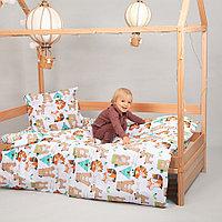 Детское постельное белье Pituso Зверушки-индейцы 160 на 80