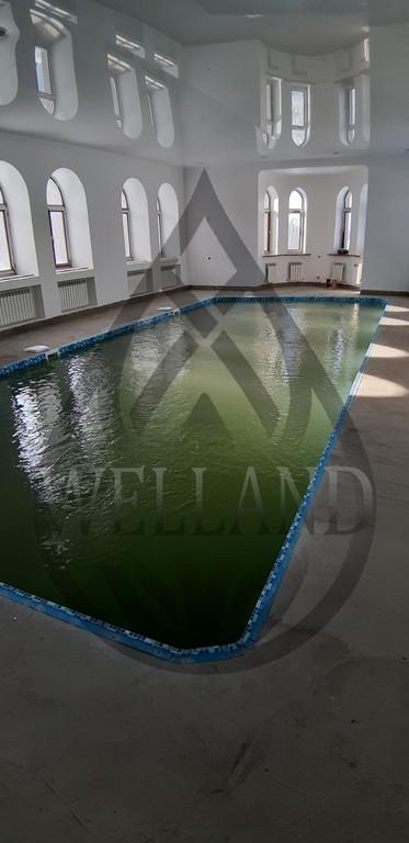 Строительство частного скиммерного бассейна. Адрес: г. Алматы, ул. Жамакаева.