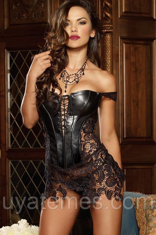 Платье корсет черное 8019 S M L XL