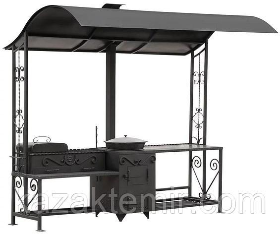 Летняя кухня с мангалом и подказанником, фото 2
