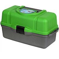 Ящик рыболова трехполочный зеленый helios tr-81686