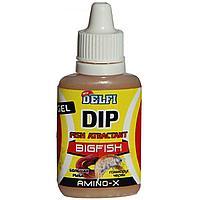 Аттрактант зимний DELFI DIP WINTER GEL BIGFISH (большая рыба, аромат червь, гаммарус, 20 мл) tr-245637