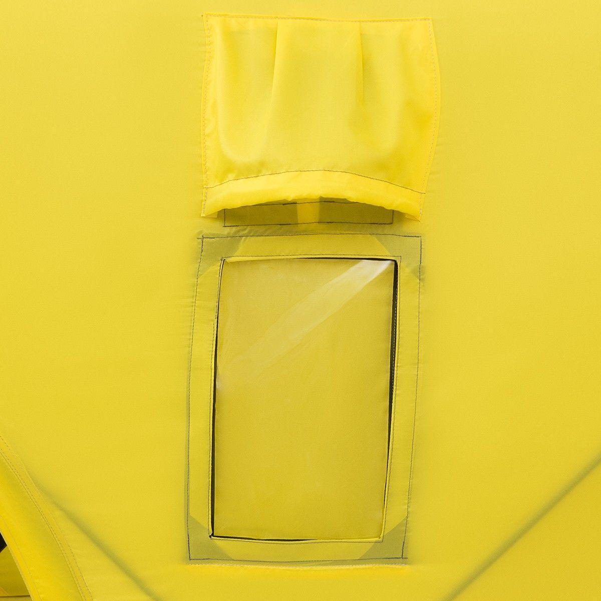 Палатка зимняя куб 1,8х1,8 yellow/gray helios (hs-isc-180yg) tr-85084 - фото 3