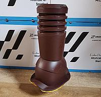 Вентиляционный выход для металлочерепицы Венеция ECO KBF 125 Шоколад, фото 1