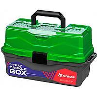 Ящик для снастей Tackle Box трехполочный NISUS зеленый (N-TB-3-G) tr-237608