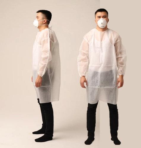 Одноразовый медицинский халат 20-74 мкр (комбинезон)