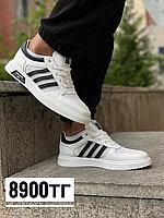 Кеды Adidas TSMY бел чер лого сетка, фото 1