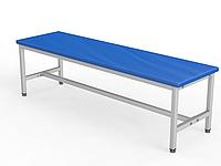 Скамейка для раздевалки без спинки, мягкая