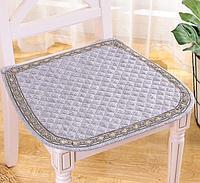 Подушка для стульев серый, белый и голубой цвета