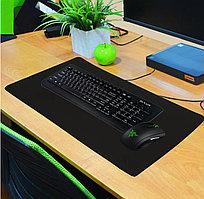 Коврик для мышки и клавиатуры черный 60х30 см