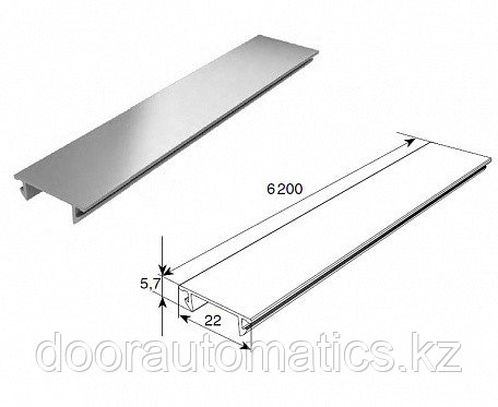 Профиль алюминиевый DHOP-09 (темный орех)