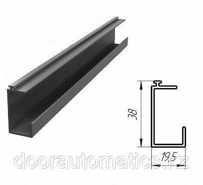 Алюминиевый профиль вставка для калитки (металлик глянцевый)