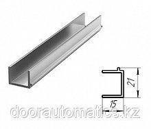 Профиль панорамных ворот для крепления алюминиевой сетки (металлик глянцевый)