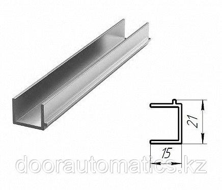 Профиль панорамных ворот для крепления алюминиевой сетки (нестандартный цвет)
