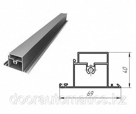 Профиль алюминиевый ригель калитки (белый глянцевый)