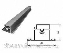 Профиль алюминиевый ригель калитки (металлик гладкий)