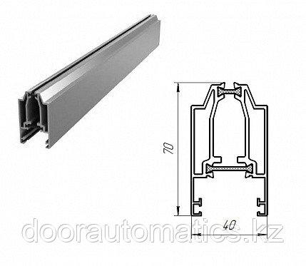 Верхний алюминиевый профиль с терморазрывом (металлик глянцевый)
