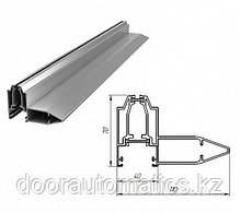 Усиленный алюминиевый профиль с терморазрывом (металлик глянцевый)