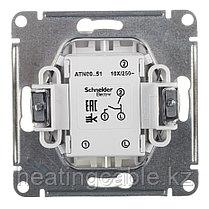 Atlas Design выключатель 2- клавишный МЕХАНИЗМ,скрытая установка белый, фото 2