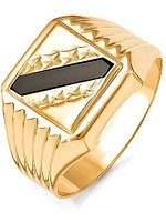 Мужская печатка Жемчужина 040139-1 21.5 золото, эмаль