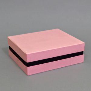 Изготовление подарочных розовых коробок