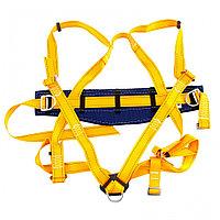 Удерживающе-страховочная привязь,модель УСП II,наплечные и набедренные лямки,высокий кушак// Сибртех