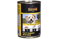 Belcando Tasty Turkey with rice ,Белькандо банки ,влажный корм для собак из индейки и белого риса, 400 гр
