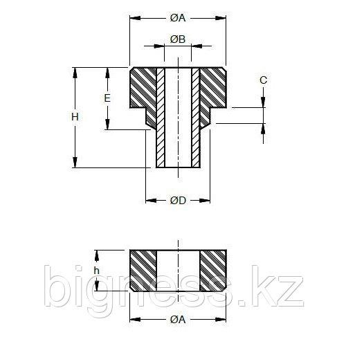 Виброопора 6×7 B мягкая