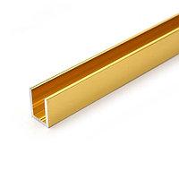 Профиль DG-1 опорный под стекло 8мм. 19х13 2200мм.   FGD-206.1 TP   Золотая