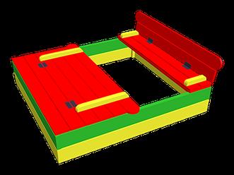 Песочница с крышкой 2м х 2м