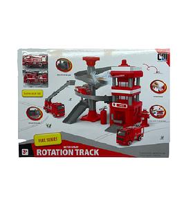 """Игровой набор """"Пожарная станция Rotation Track Fire Series"""" со звуковыми эффектами и светом"""