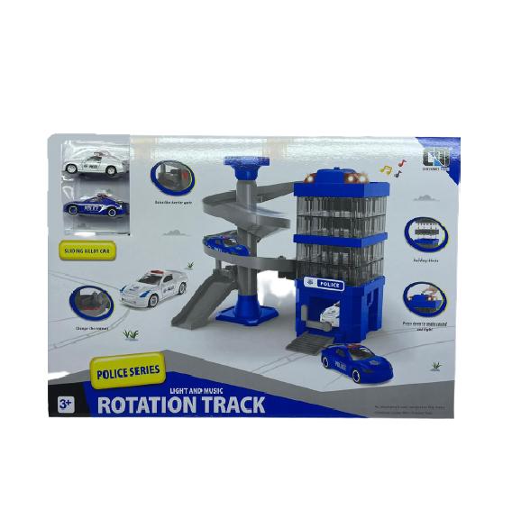 """Игровой набор """"Полицейская станция Rotation Track Police Series"""" со звуковыми эффектами и светом"""