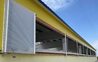 Скручивающиеся шторы с автоматическим и ручным приводом