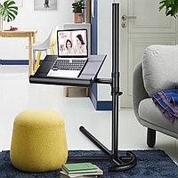 Прикроватный стол для ноутбука с кулером, фиксаторами для книг и регулировкой по высоте