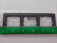 """3-местная горизонтальная рамка """"черный бархат"""" W59 Scheider Electric"""