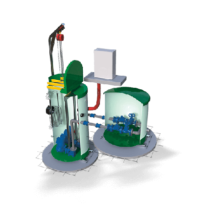 Водоподъемные фекальные установки / Канализационные насосные станции SRP, фото 2