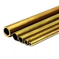 Труба бронзовая манометрическая круглая 12х0,8 мм БрОФ4-0,25 ГОСТ 2622-75 тянутая