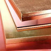 Плита бронзовая 82х1000 мм БрХ1 (CuCr1) ТУ 48-21-779-85 горячекатаная