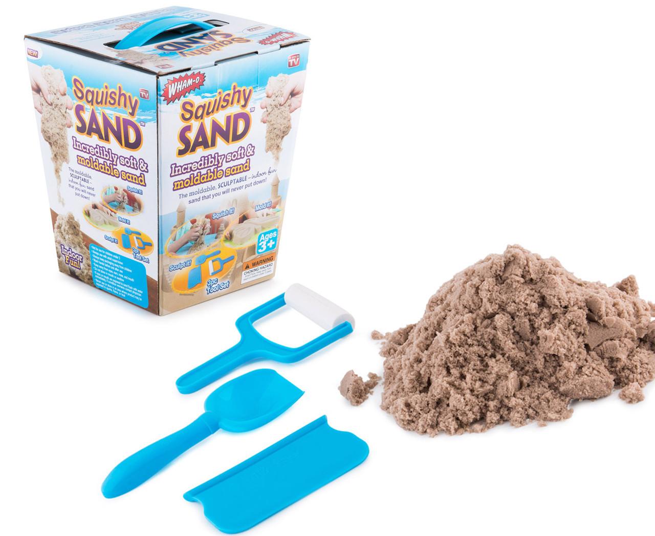 Кинетический живой песок для лепки Squishy Sand (Сквиши Сэнд) Интерактивные игрушки!