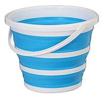 Складное ведро 10L - folding bucket 10L (белый/синий)