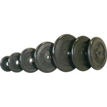 Диск Barbell черный обрезиненный 31 мм (1,25 кг)