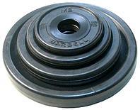 Диск олимпийский Barbell евро-классик черный обрезиненный (1,25 кг), фото 1