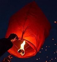 Небесный фонарик, красный