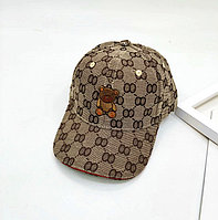 Gucci бейсболки с узором GG коричневая вышитая мишка