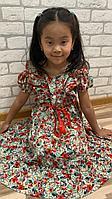 Шифоновое платье в корейском стиле 120 см на 6 лет