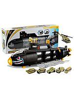 """OS: Игровой набор парковка """"Подводная лодка"""", машинки, вертолеты, военная техника, подарок для мальчика"""