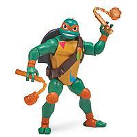 TMNT: Rise of the Turtles. Фигурка Микеланджело с боевым панцирем 12 см
